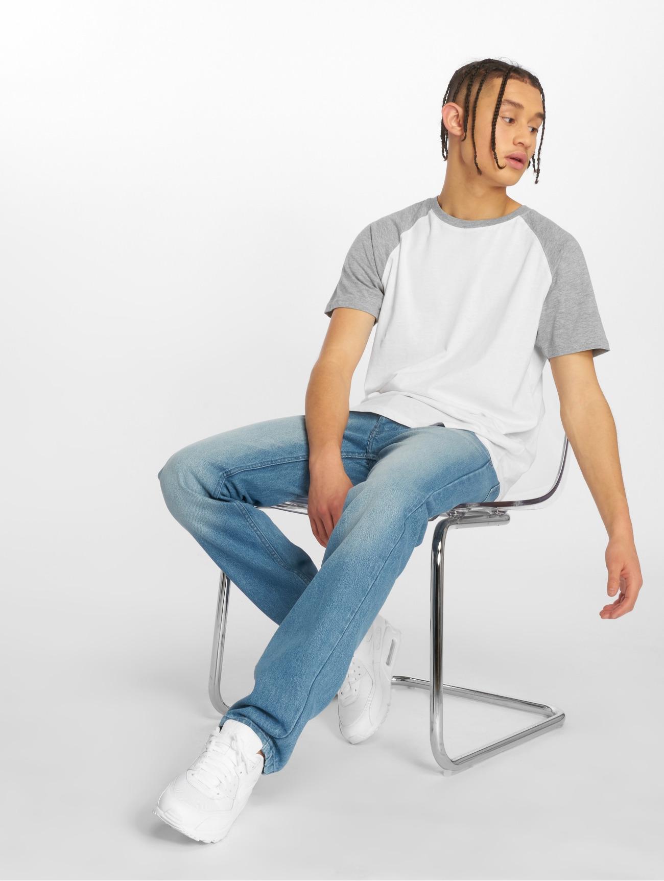 Rocawear Moletro Leather Patch bleu Homme Jean coupe droite 476038 Homme Jeans