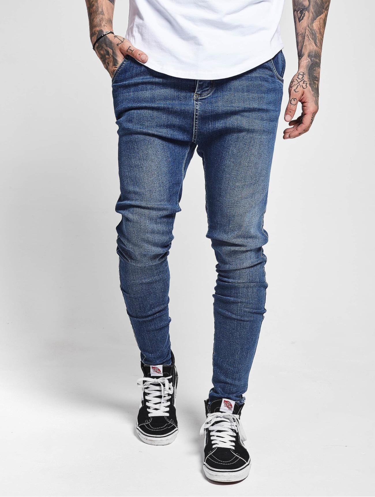 Sik Silk Jeans / Skinny jeans Skinny  i blå 722171 Män Jeans