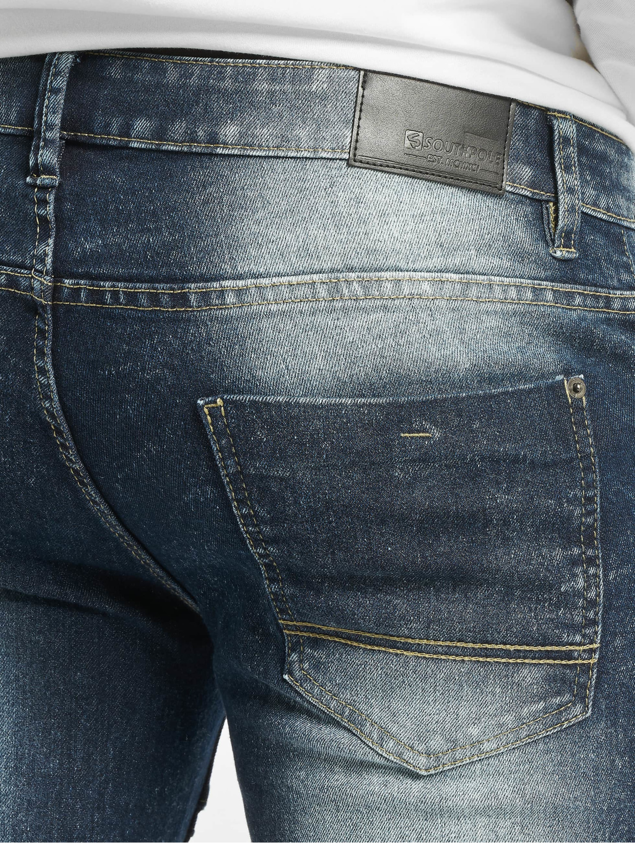 Southpole  Biker  bleu Homme Short  675523 Homme Pantalons & Shorts