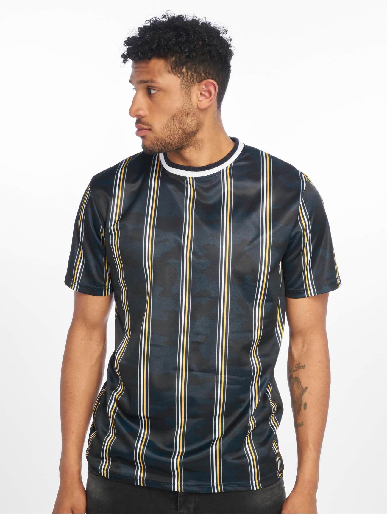 Southpole Överdel / T-shirt Thin Vertical Stripes i blå 675280 Män Överdelar