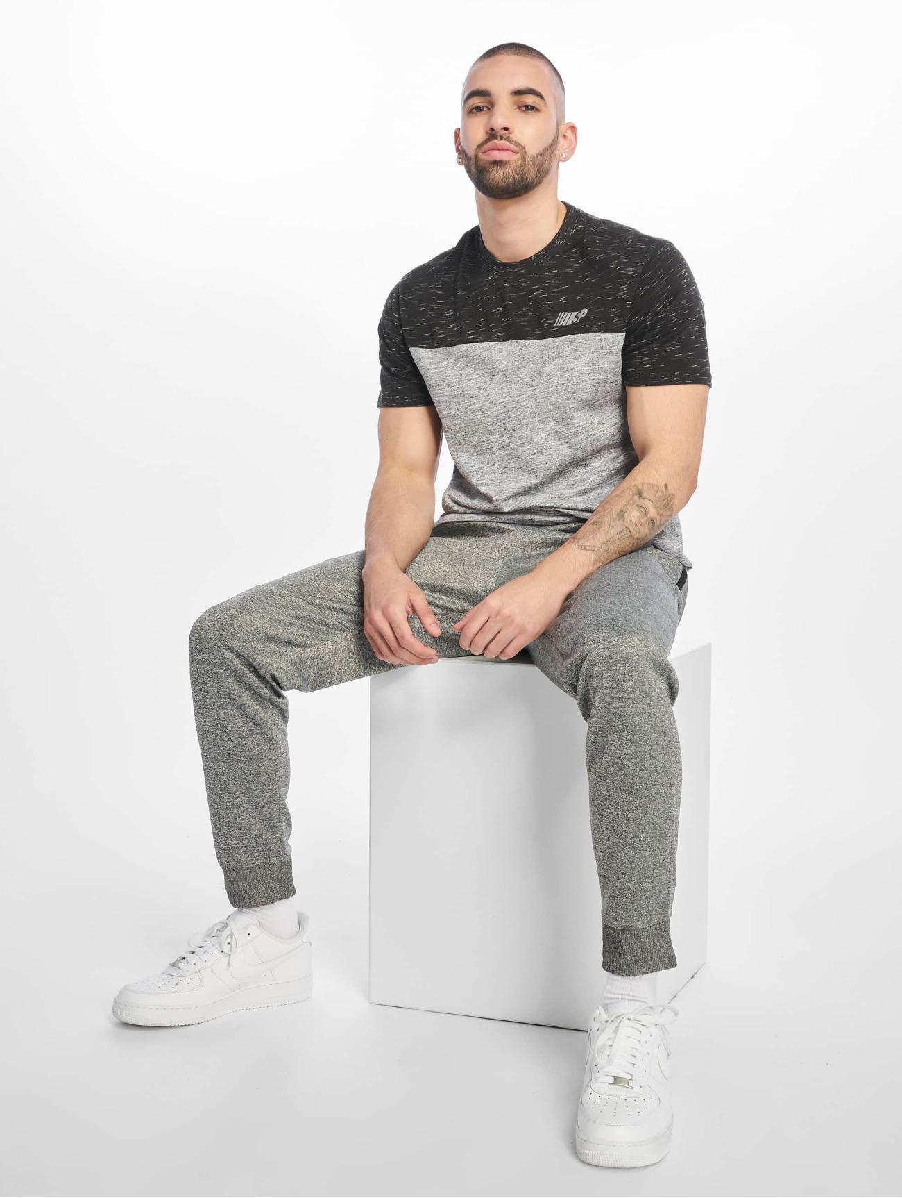 Southpole Överdel / T-shirt Color Block Tech i grå 675302 Män Överdelar