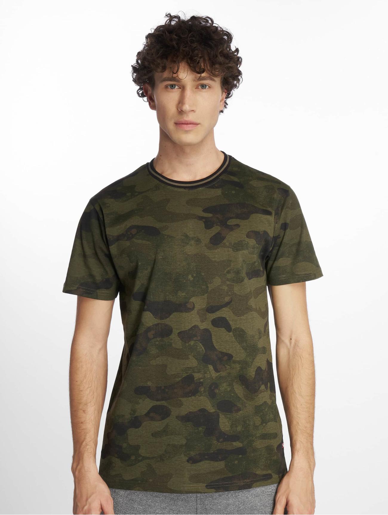 Southpole Överdel / T-shirt Camo & Splatter Print i kamouflage 644383 Män Överdelar