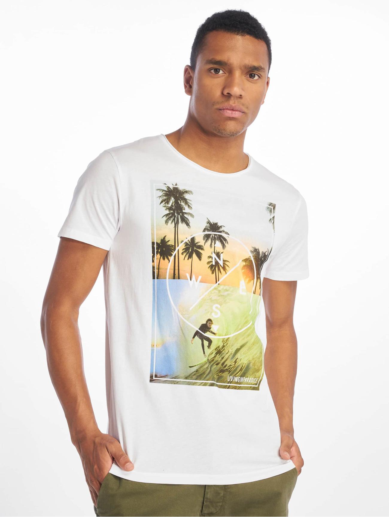 Stitch & Soul Överdel / T-shirt Living Paradise i vit 673058 Män Överdelar