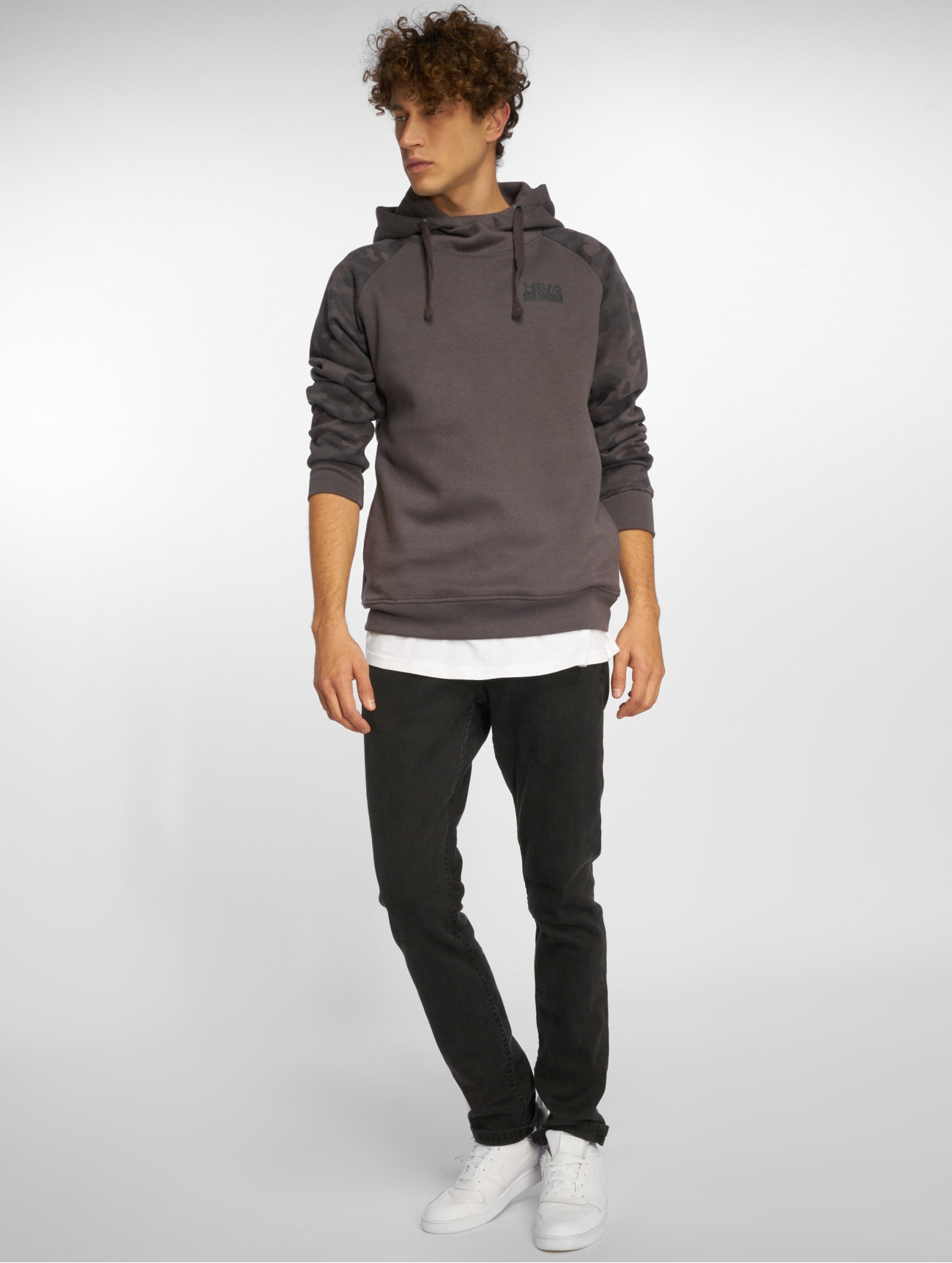 Sublevel |  Iron  gris Homme Sweat capuche  593424| Homme Hauts