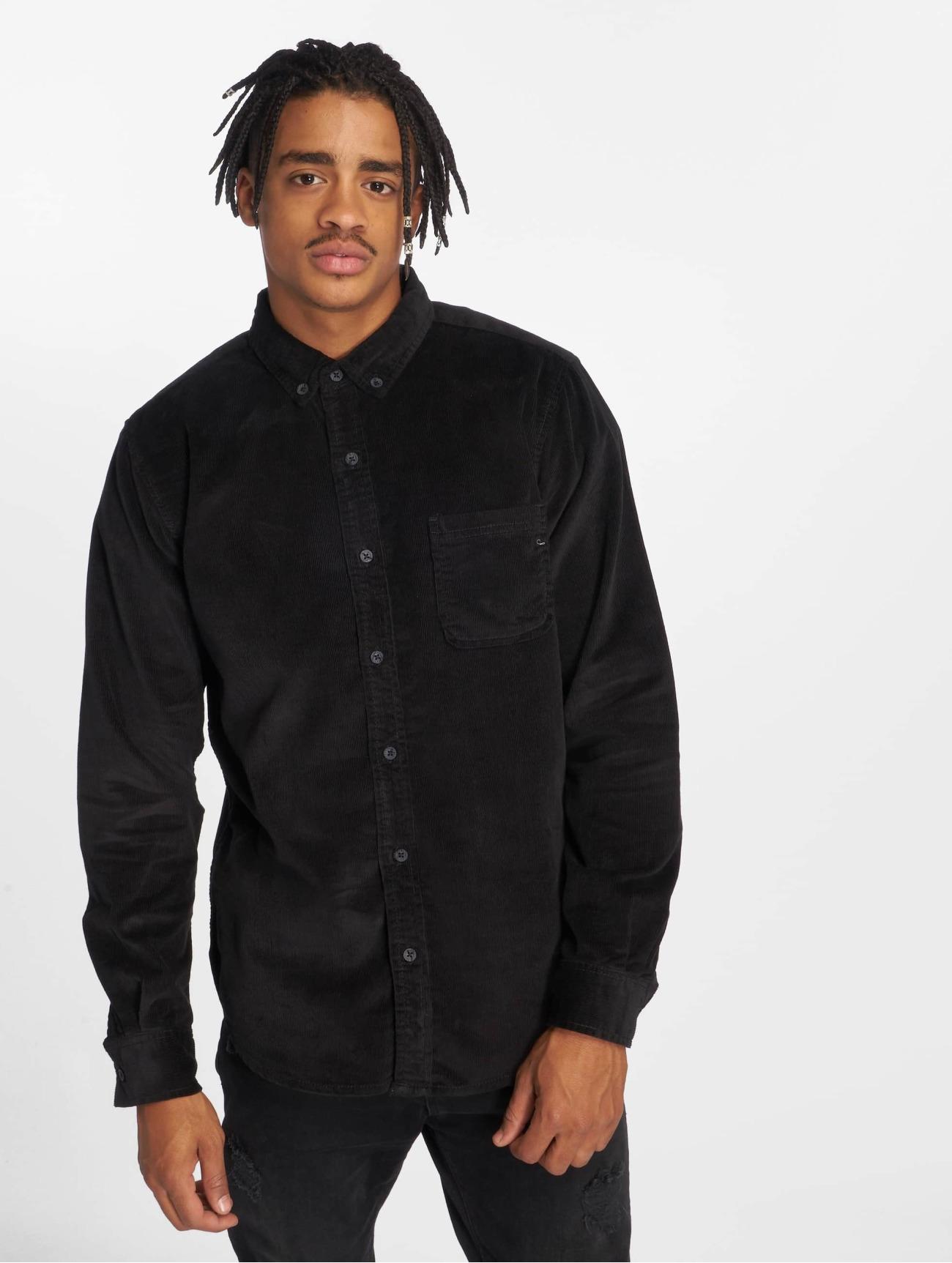Urban Classics | Corduroy   noir Homme Chemise  563060| Homme Hauts