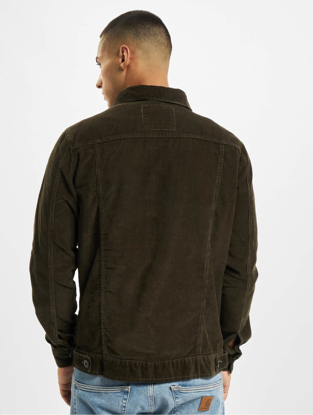 Urban Classics Jacket / Lightweight Jacket Corduroy  in olive 636501
