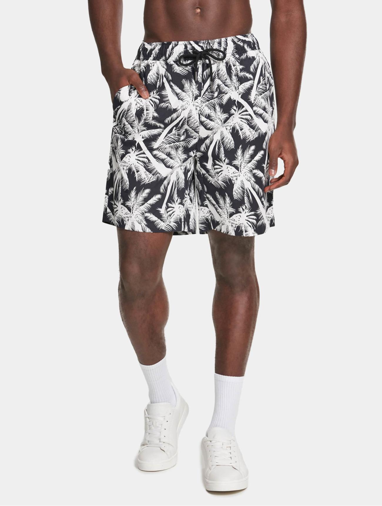 Urban Classics  Pattern Resort  noir Homme Short  636480 Homme Pantalons & Shorts