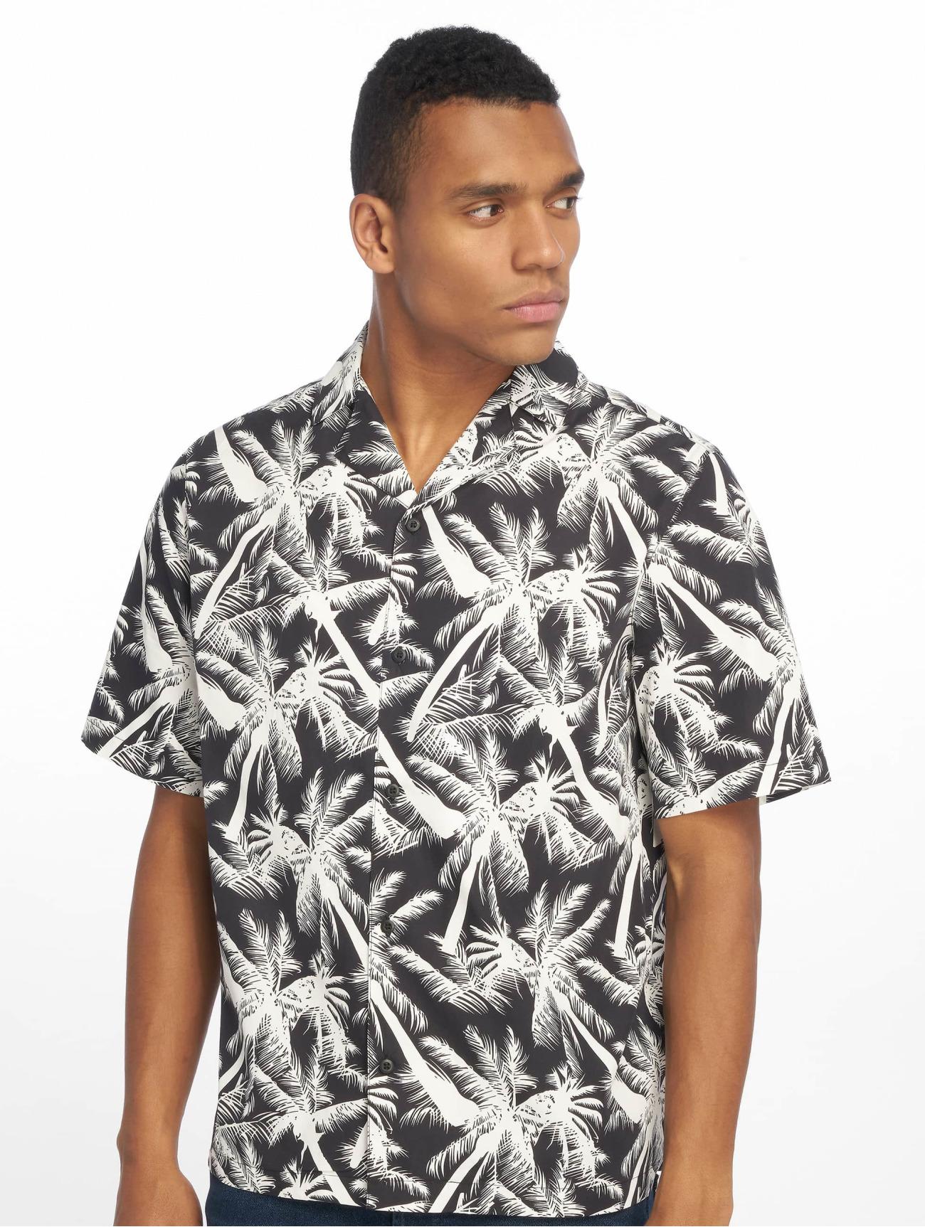 Urban Classics Överdel / Skjorta Pattern Resort i blå 636451 Män Överdelar