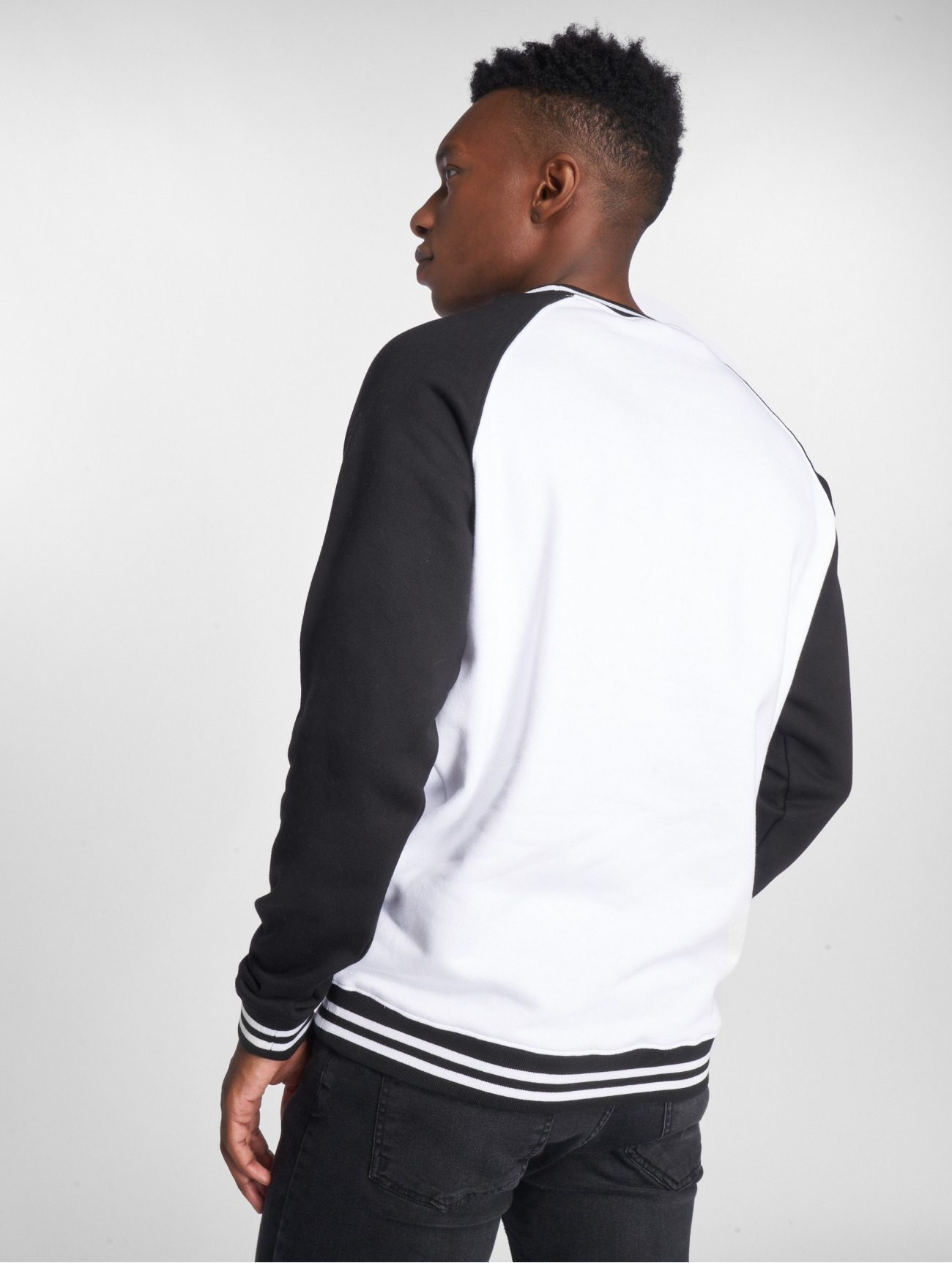 Urban Classics | Contrast College  blanc Homme Sweat & Pull  562943| Homme Hauts