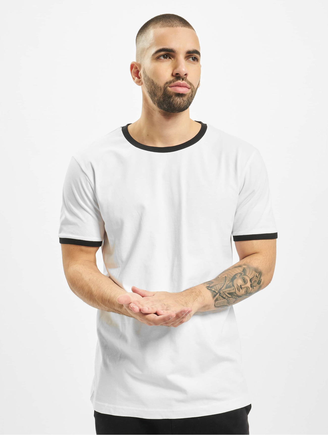 Urban Classics   Ringer   blanc Homme T-Shirt  305464  Homme Hauts