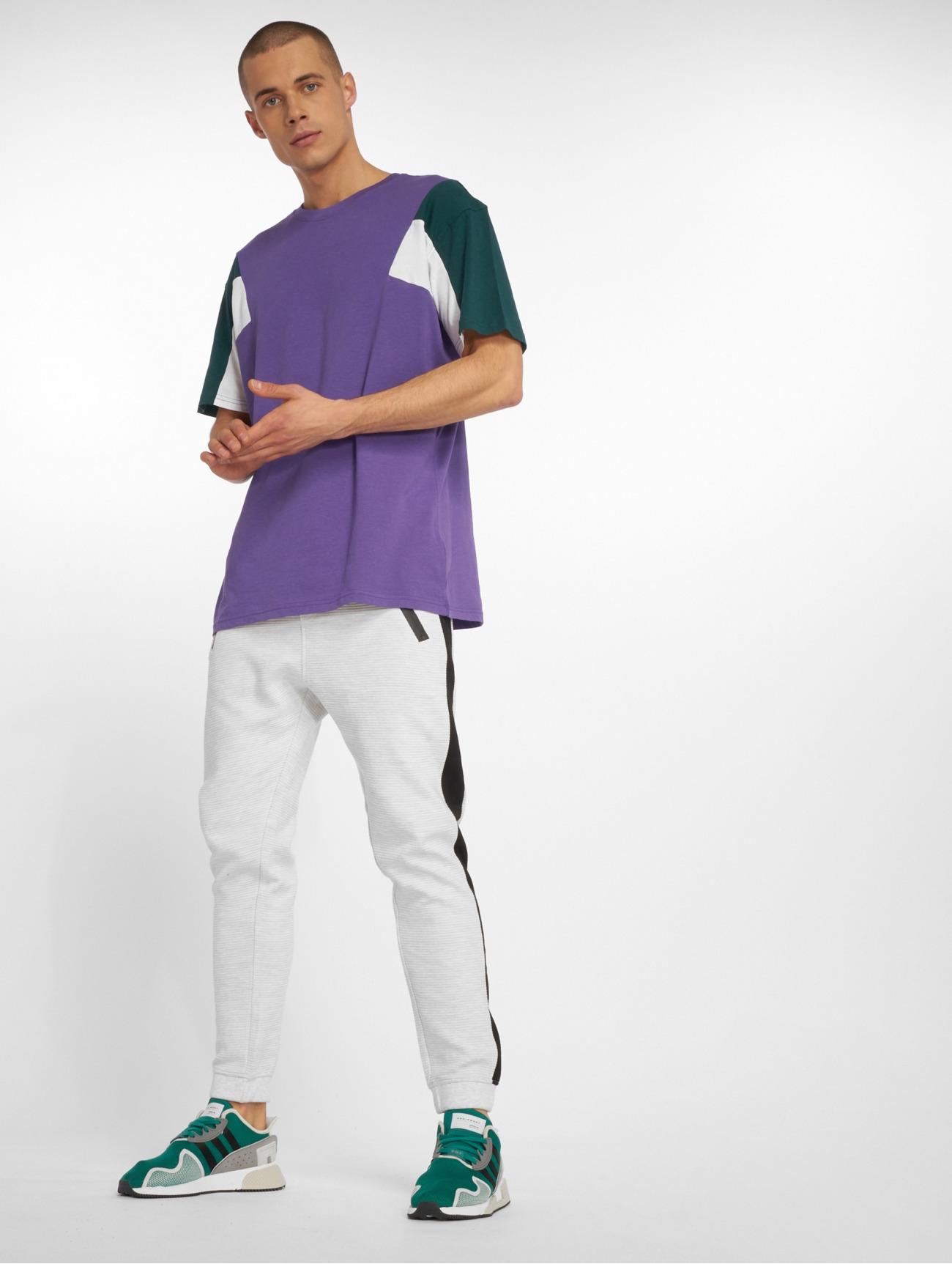 Urban Classics | 3-Tone  pourpre Homme T-Shirt  562865| Homme Hauts