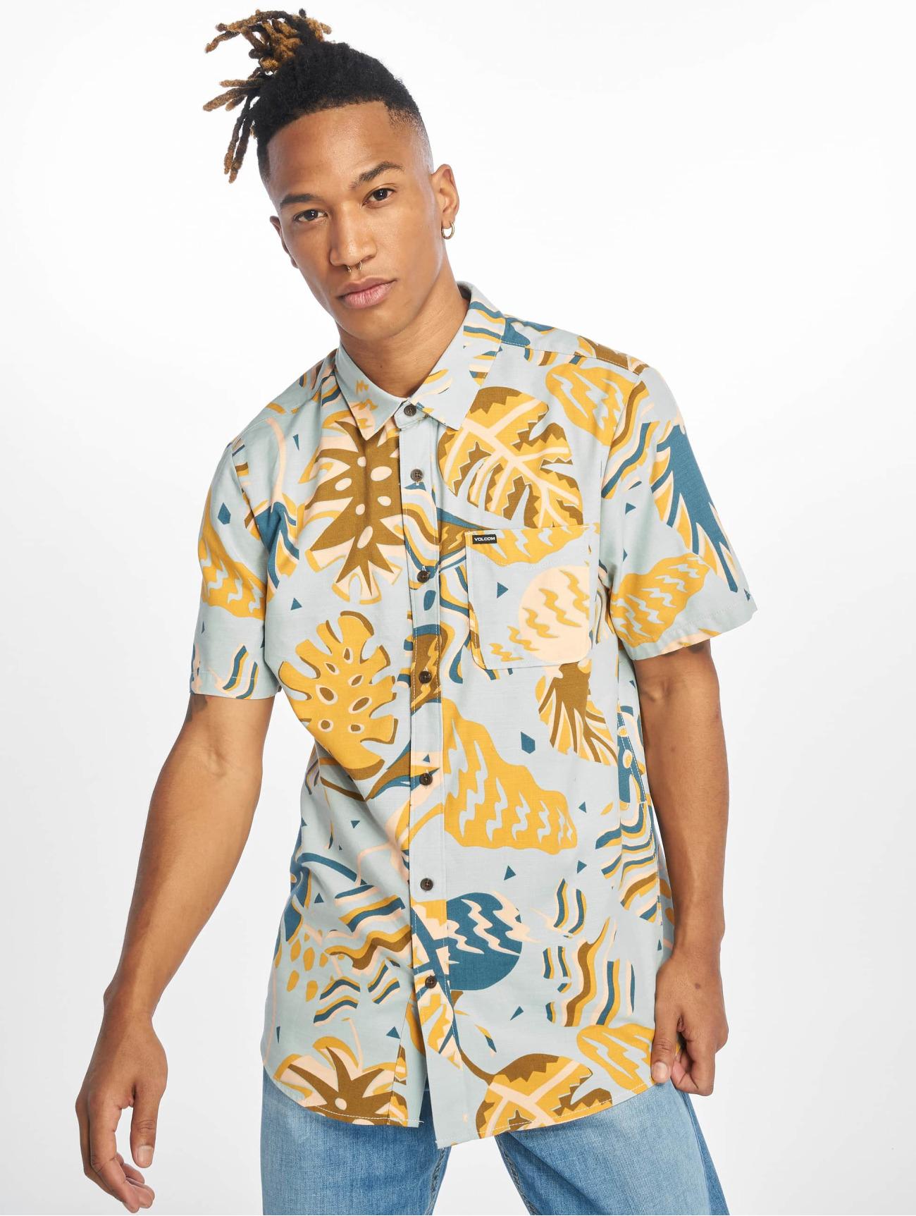 Volcom Överdel / Skjorta Scrap Floral i blå 627103 Män Överdelar