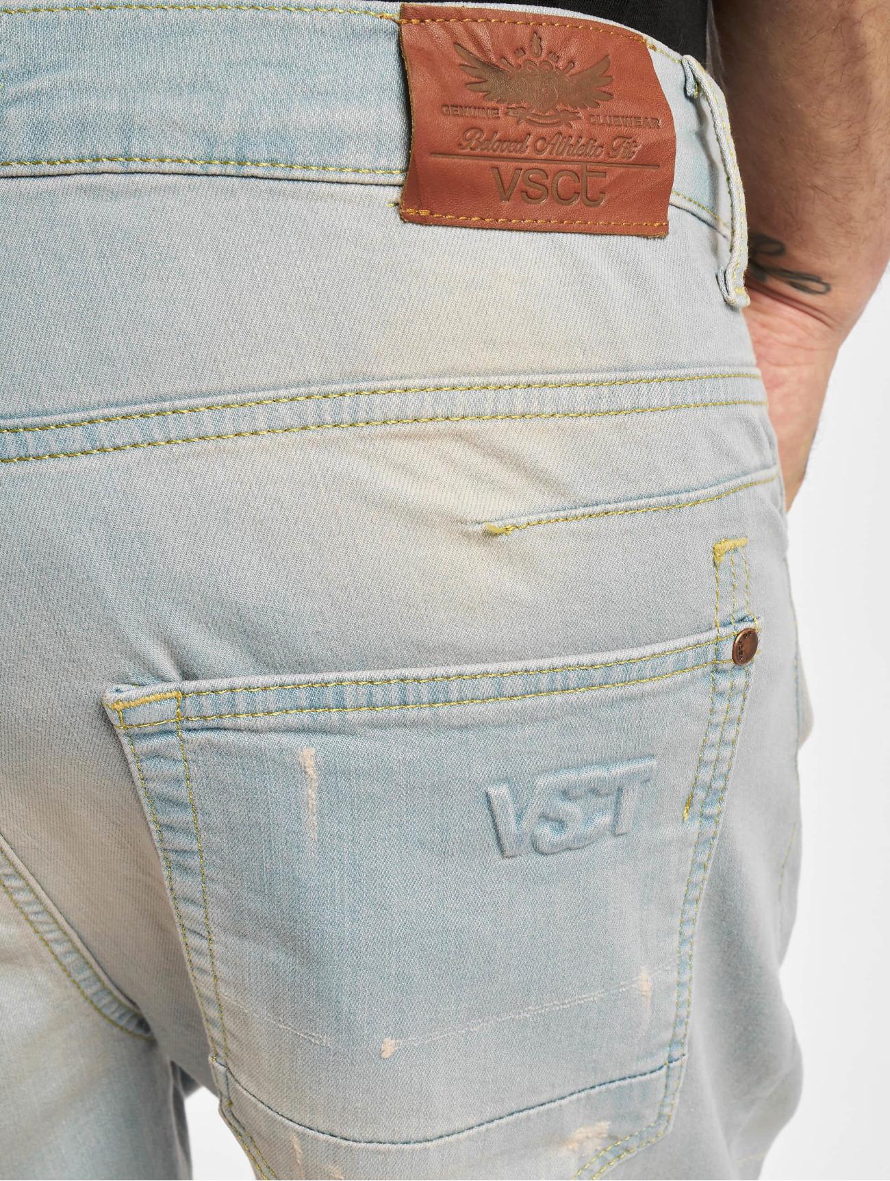 VSCT Clubwear  Noah Cuffed  bleu Homme Jean coupe droite  765434 Homme Jeans