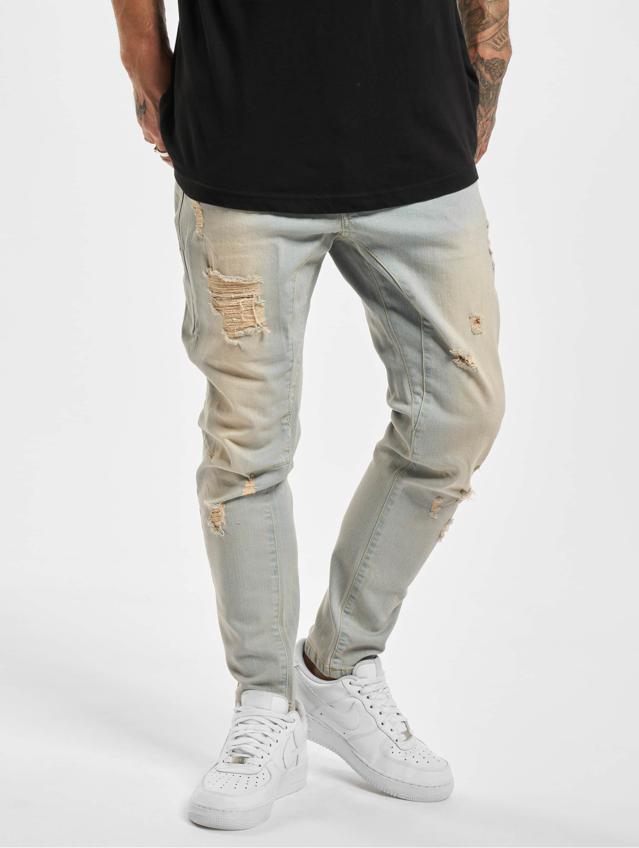 VSCT Clubwear  New Keanu Spencer Hybrid  bleu Homme Jean coupe droite  765435 Homme Jeans