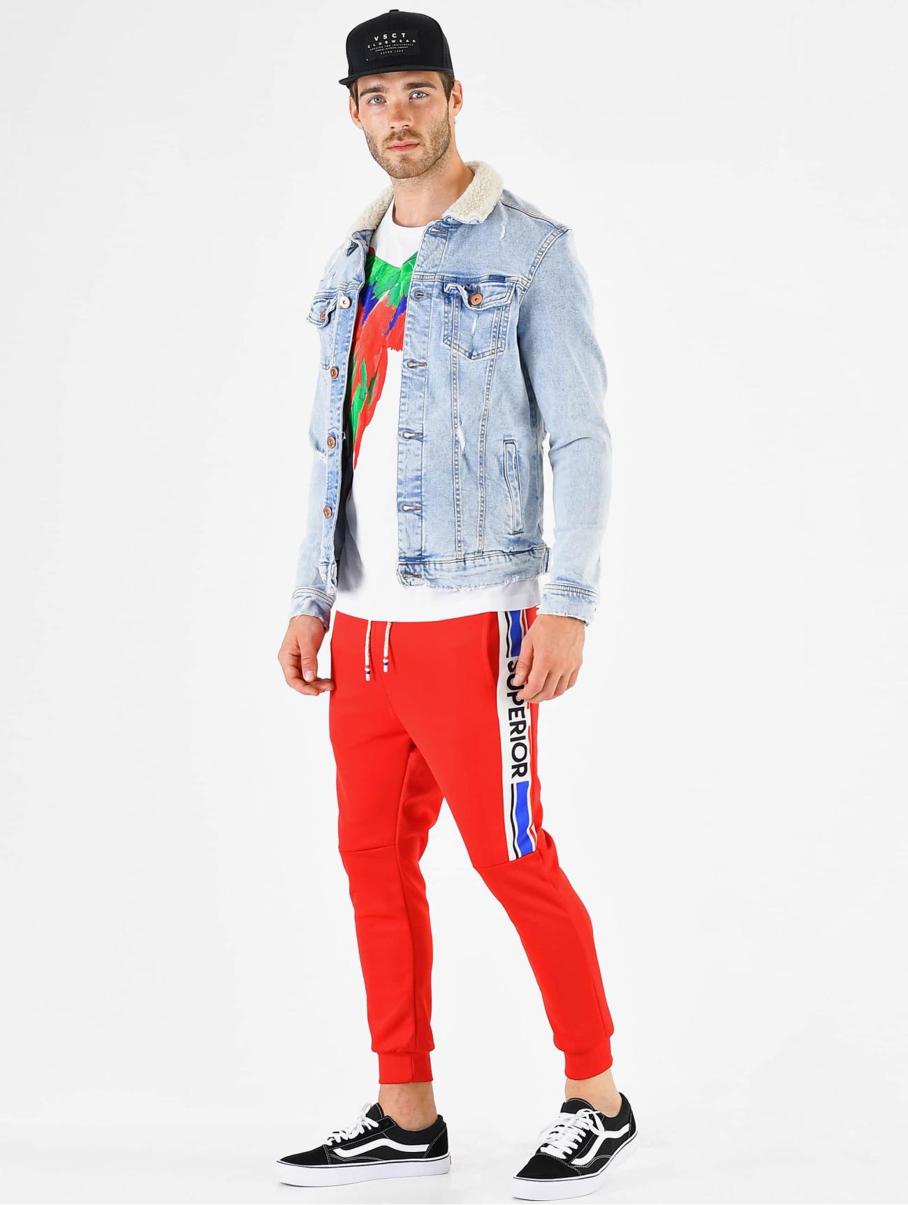 VSCT Clubwear Byxor / Joggingbyxor Superior  i röd 673426 Män Byxor