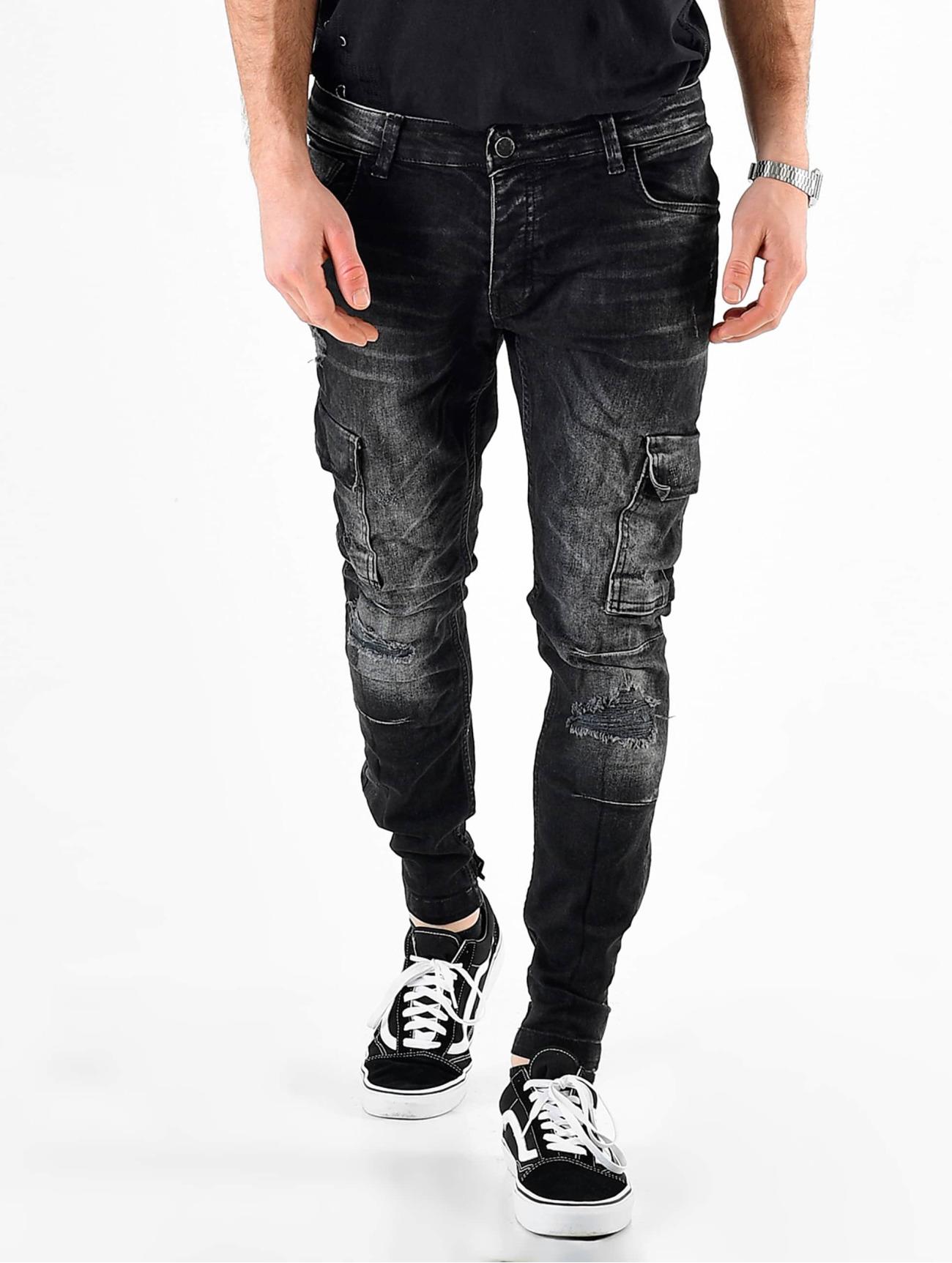 VSCT Clubwear  Knox Adjust Hem  noir Homme Pantalon cargo  492531 Homme Pantalons & Shorts