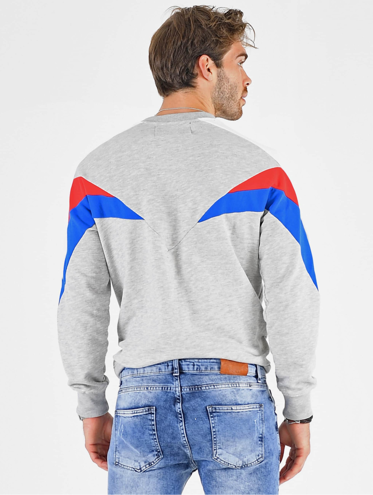 VSCT Clubwear Herren Pullover Coach V Logo Tape Crew in grau 673457
