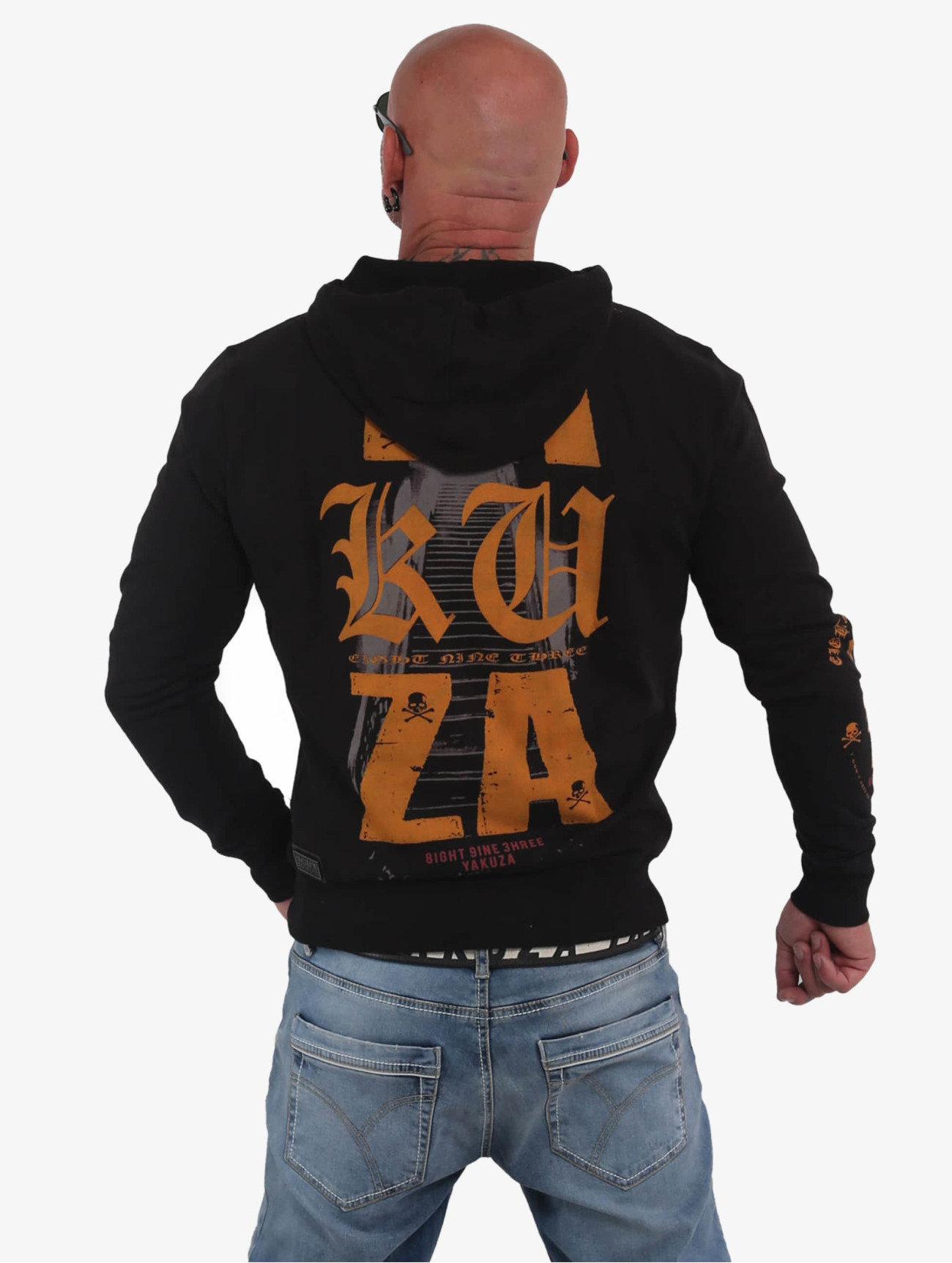 Yakuza Herren Hoody Know  in schwarz 687433