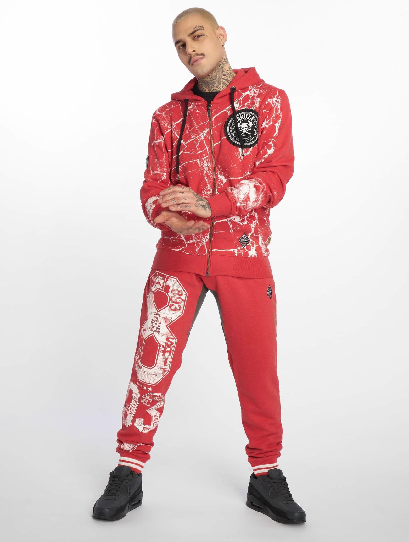 Yakuza Housut | Badge Sweat Verryttelyhousut | punainen 627743