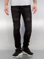 2Y Jean skinny Quilted noir