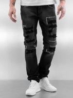 2Y Jeans ajustado Stitch negro
