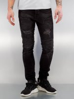 2Y Skinny jeans Quilted zwart