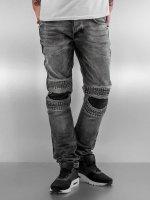 2Y Slim Fit -farkut Knee harmaa