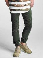 2Y Slim Fit Jeans Denim Jogger olivová