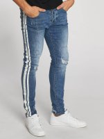 Aarhon Jeans ajustado Stripes azul