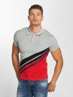 Aarhon Poloshirt Diagonal grau