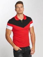 Aarhon Poloshirt Tricolor rot