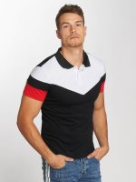 Aarhon Poloshirt Tricolor schwarz