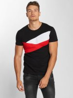 Aarhon T-Shirt Stripes schwarz