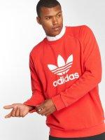 adidas originals Swetry Trefoil Crew czerwony
