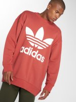 adidas originals Swetry Tref Over Crew pomaranczowy