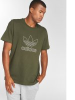adidas originals t-shirt Outline Tee olijfgroen