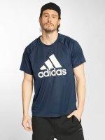 adidas originals T-Shirty D2M niebieski