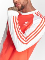 adidas originals Tričká dlhý rukáv Originals 3-Stripes Ls T èervená
