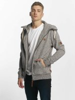Alife & Kickin Sweat capuche zippé Trasher gris