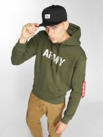 Alpha Industries Bluzy z kapturem Army Navy zielony