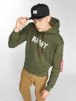 Alpha Industries Felpa con cappuccio Army Navy verde