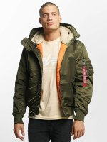 Alpha Industries Giubbotto Bomber MA-1 Hooded verde