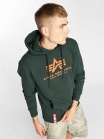 Alpha Industries Hoodies Basic zelený