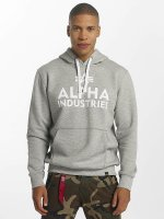 Alpha Industries Hoody Foam Print grau