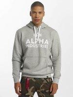 Alpha Industries Hoody Foam Print grijs