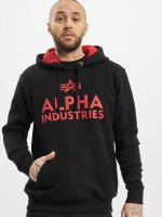 Alpha Industries Hoody Foam Print zwart