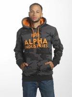Alpha Industries Hupparit Foam Print musta