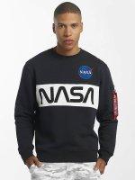 Alpha Industries Jersey NASA Inlay azul