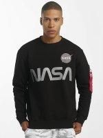 Alpha Industries Jersey NASA Reflective negro