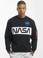Alpha Industries Pullover NASA Inlay blau